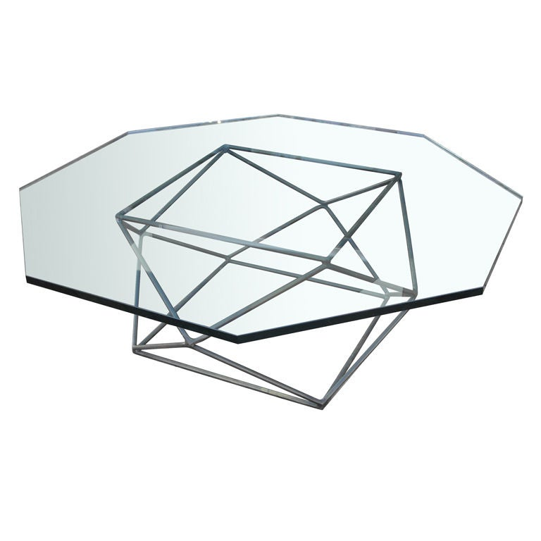 Geometric Bronze Coffee Table By Directional At 1stdibs