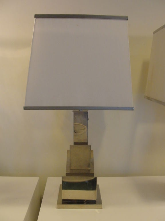 Italian Romeo Rega Pair of Skyscraper Table Lamps 'Signed' For Sale