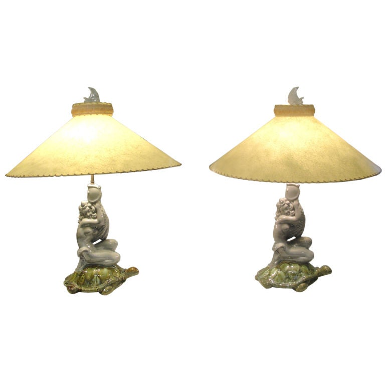 Pair Of Exceptional Royal Haeger Art Deco Table Lamps At