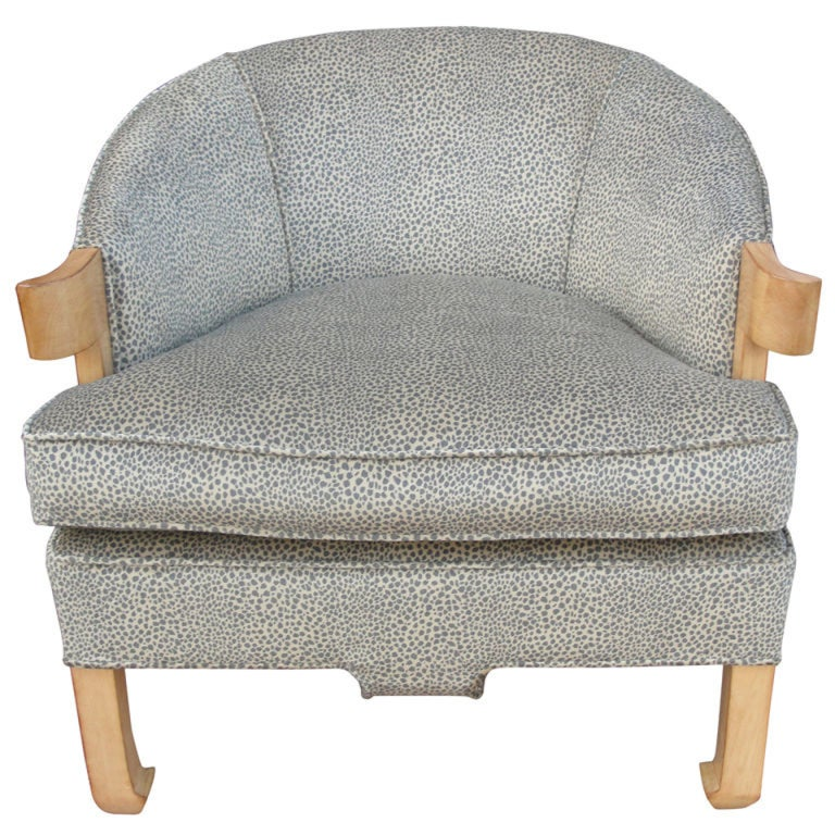 A Beautiful Animal Print Single Armchair For Sale At 1stdibs