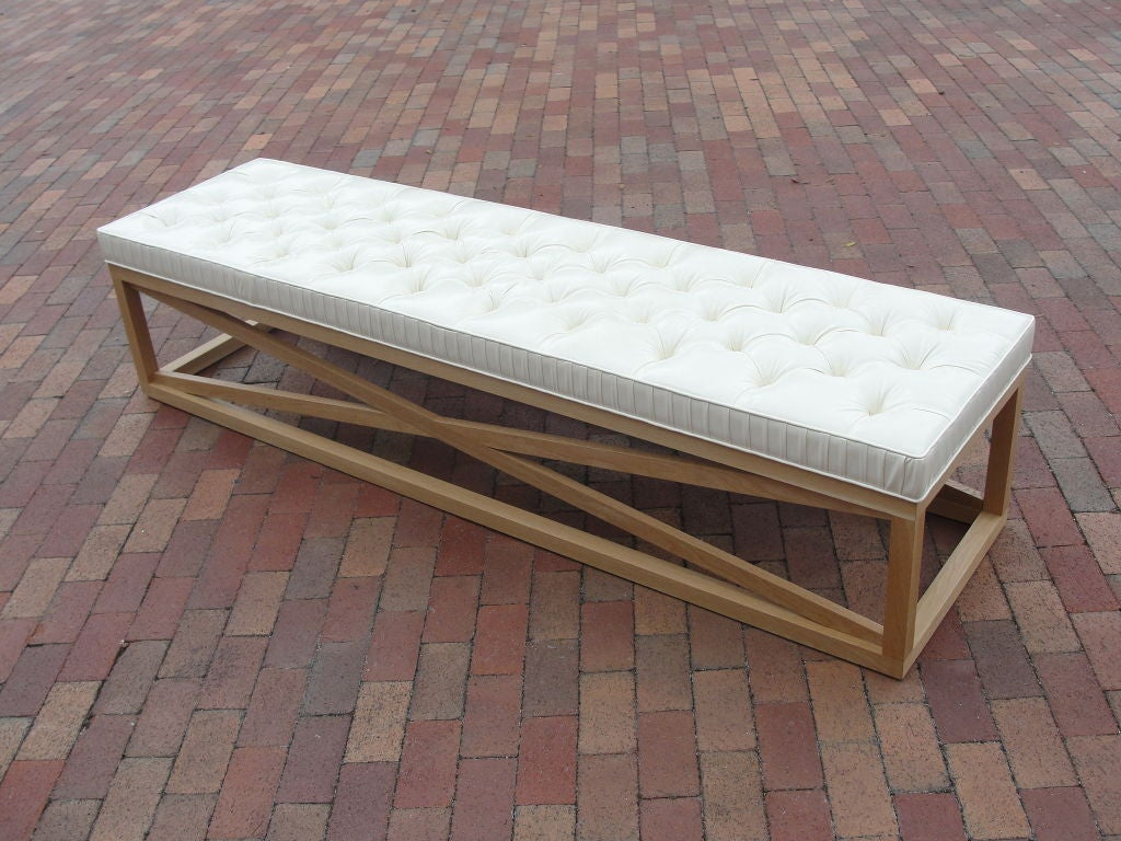 Extra Long Tufted Bench For Sale At 1stdibs