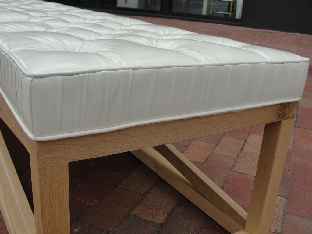 Extra-Long Tufted Bench For Sale At 1stdibs