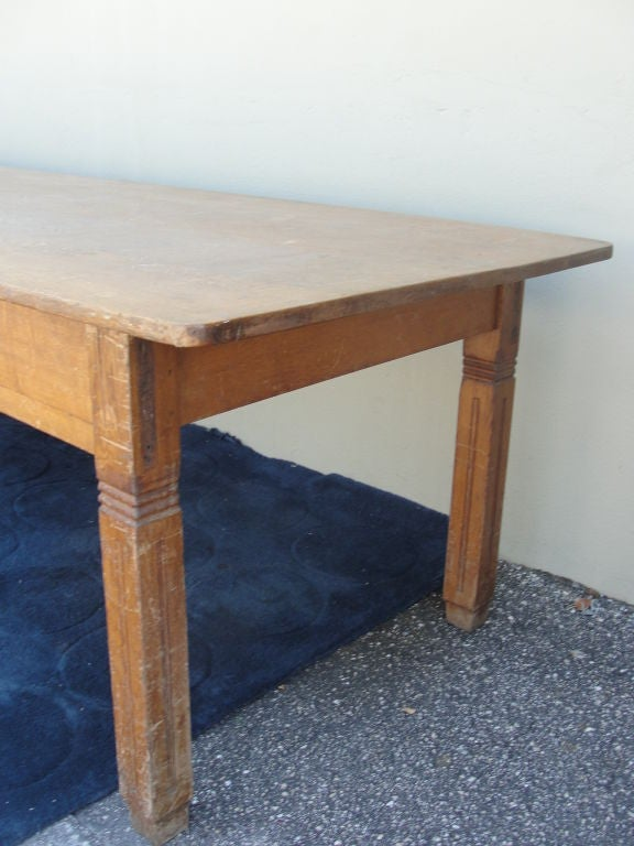 Extra long farm or library table made of oak at 1stdibs for Extra long farmhouse table