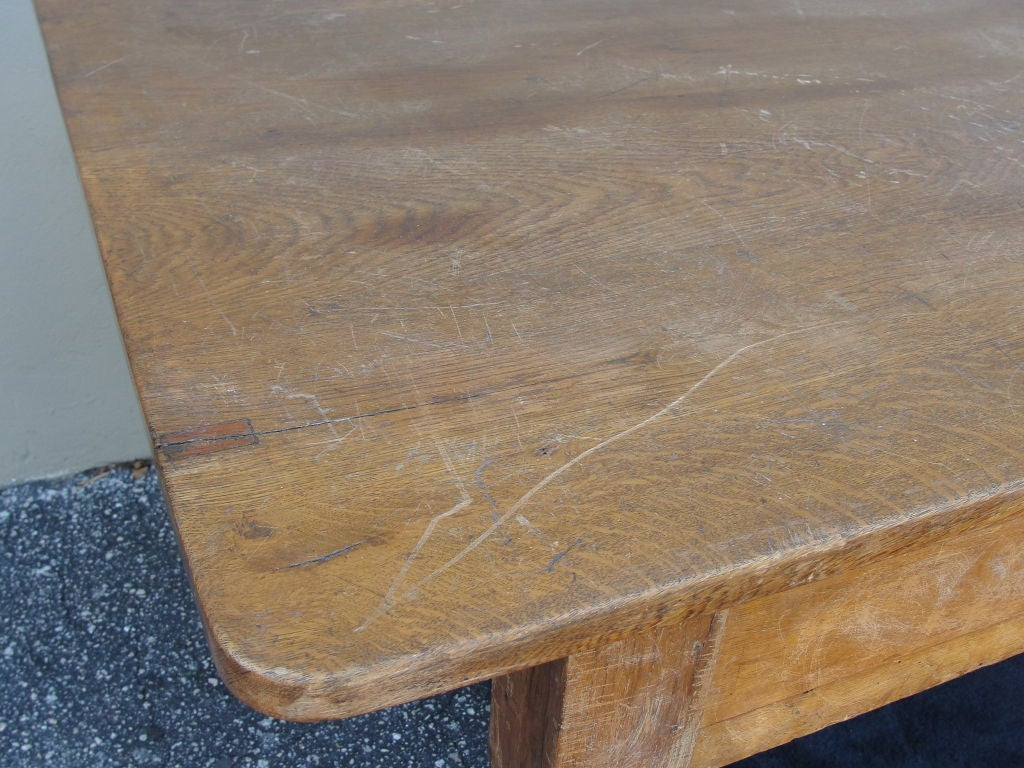 Extra long farm or library table made of oak for sale at for Extra long farmhouse table