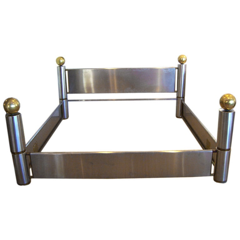 Amazing Stainless Steel And Brass King Bed Frame For Sale