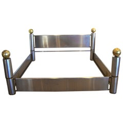 Amazing Stainless Steel and Brass King Bed Frame