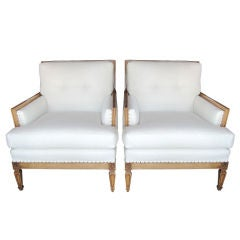 Pair of 1940's Armchairs in Manner of JMF