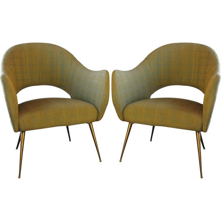 Pair Of Vintage Modernist Armchairs At 1stdibs