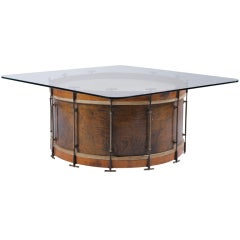 Antique Band Drum Table
