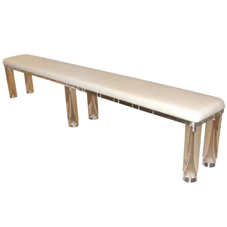 Outstanding Extra Long Lucite Bench At 1stdibs