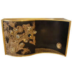 Out of This World Bronze Console with Encrusted Natural Stones