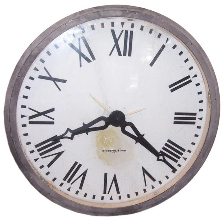 Large Architectural Salvage Four Foot Clock Tower Face For Sale At
