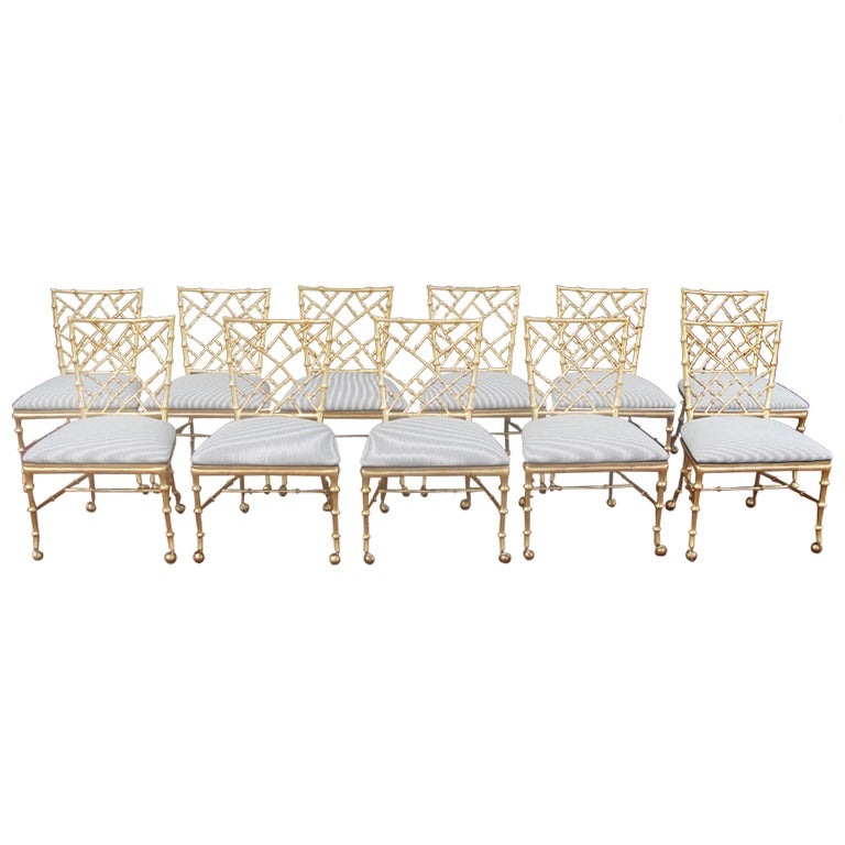Set Of 11 Phyllis Morris Chinese Chippendale Style Chairs 1