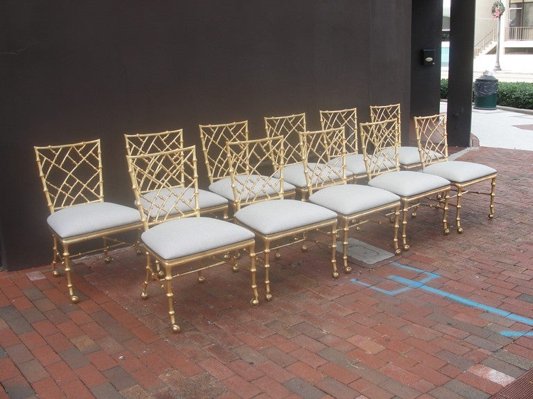 American Set of 11 Phyllis Morris Chinese Chippendale Style Chairs For Sale