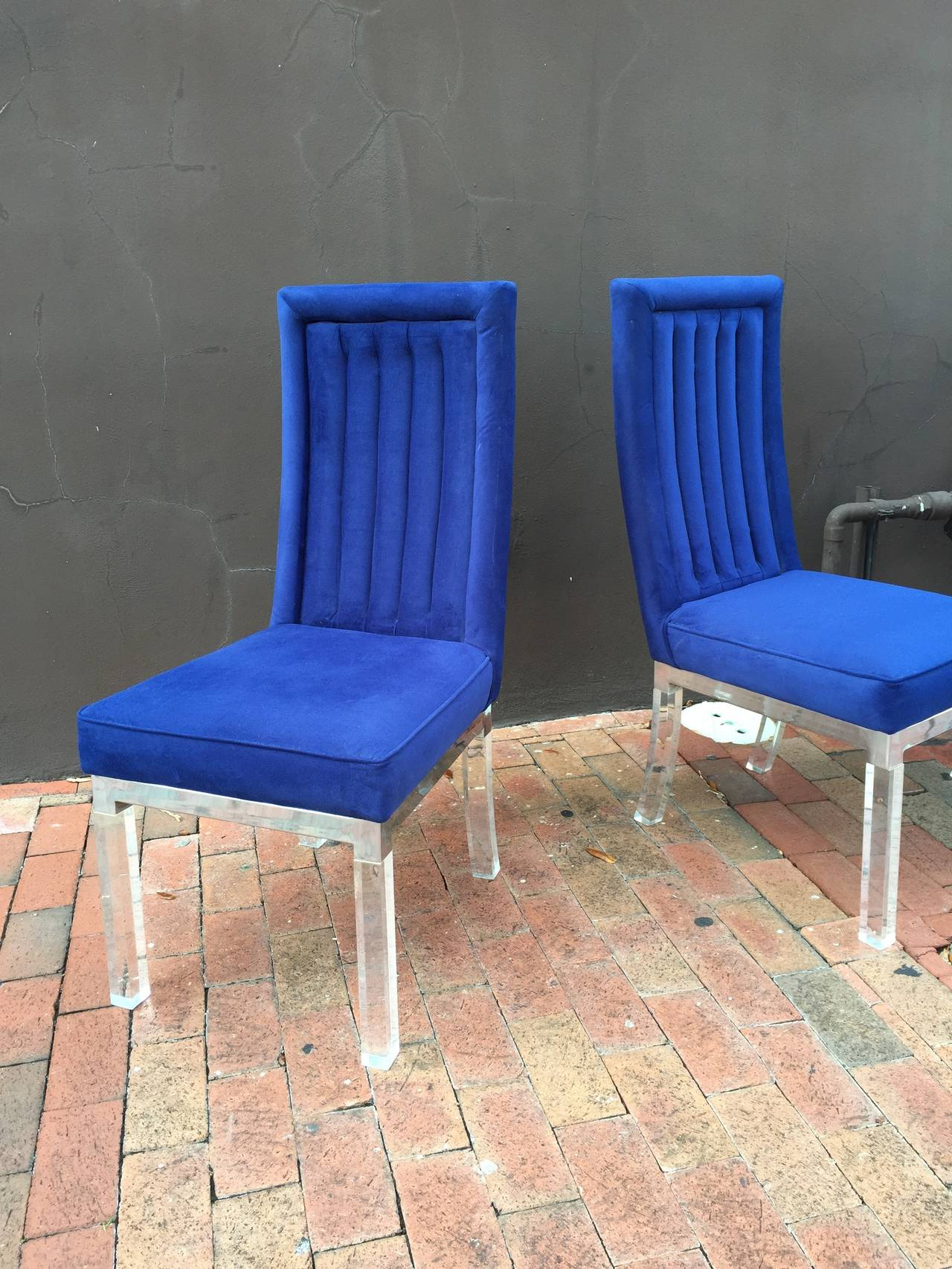 American Set of Four Charles Hollis Jones Dining Chairs For Sale