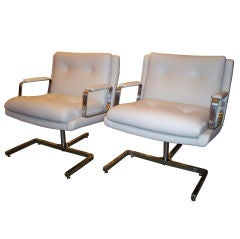 Raphael Pair of Mid-Century Modernist Club Chairs, France, circa 1970