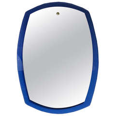 Large Wall Mirror in the Style of Fontana Arte