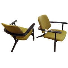 Pair of Lounge Chairs Created for Sabena Airlines by Hendrickx