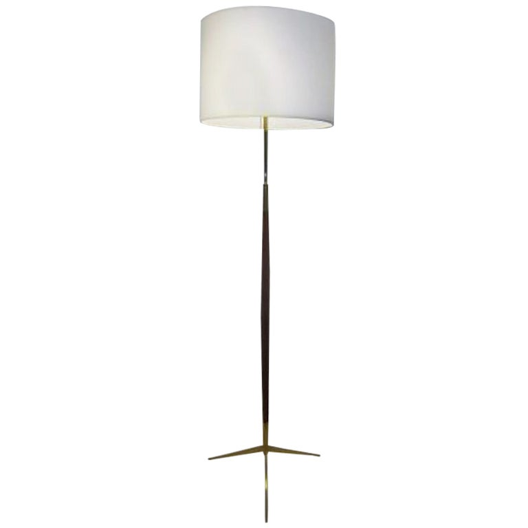 A Mid Century Floor Lamp in Mahogany in the Style of Ico Parisi 1