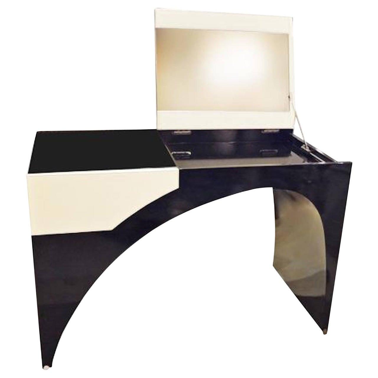 vanity or dressing table by marie christine dorner for hotel la villa at 1stdibs. Black Bedroom Furniture Sets. Home Design Ideas