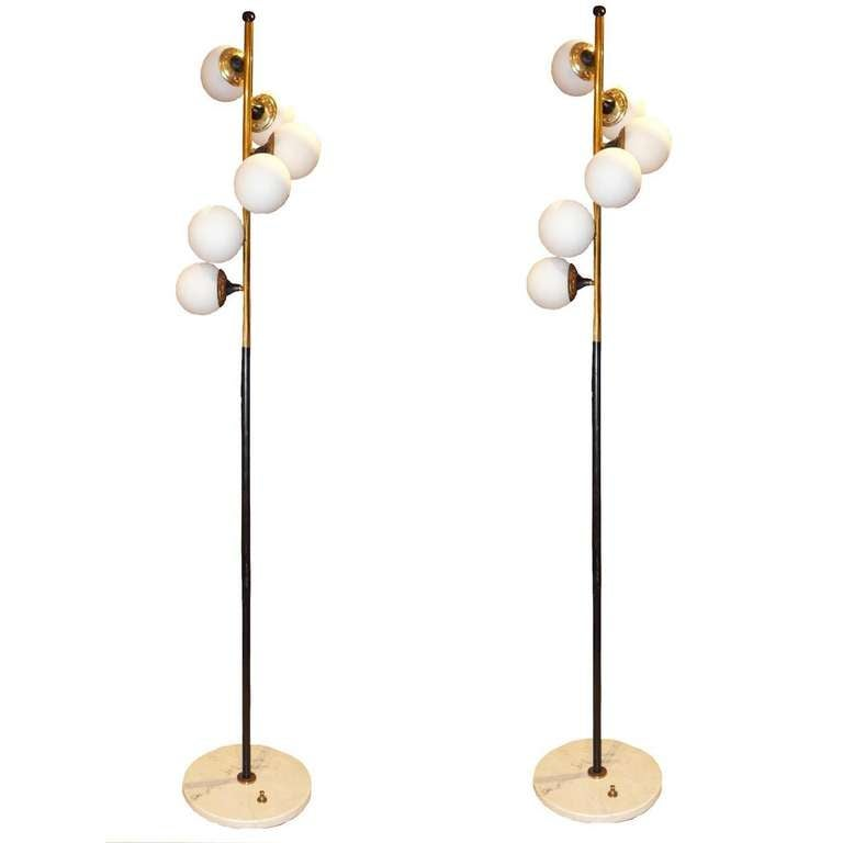 a pair of mid century floor lamps by stilnovo 1