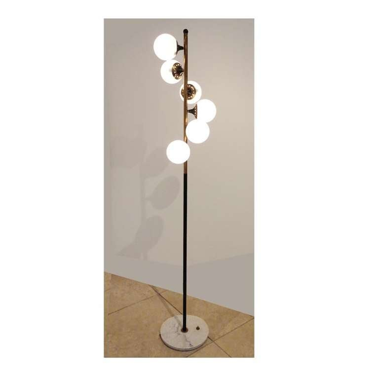 a pair of mid century floor lamps by stilnovo 2