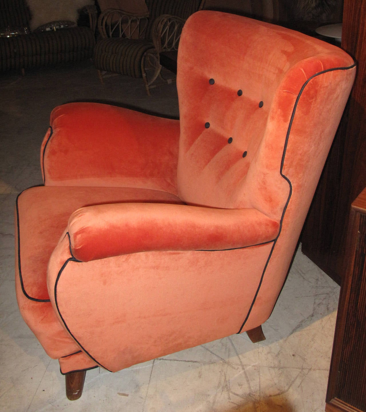 Mid-Century Modern Danish 1940s Large-Scale Club Chair For Sale