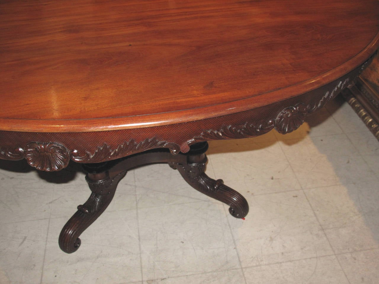 19th Century Danish Carved Mahogany Centre Table For Sale 2