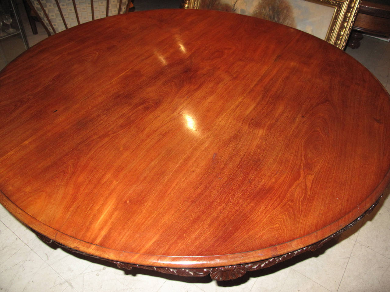 19th Century Danish Carved Mahogany Centre Table For Sale 1