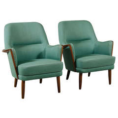 Pair of Architect Designed Danish Modern Armchairs