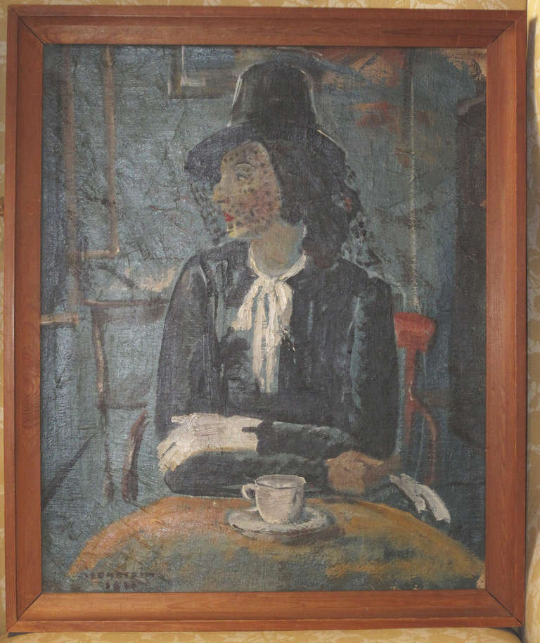 1930s American Paintings 1930s Painting of a Woman