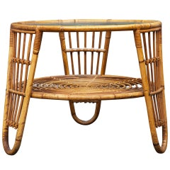 Danish Modern Rattan Coffee/Low Table
