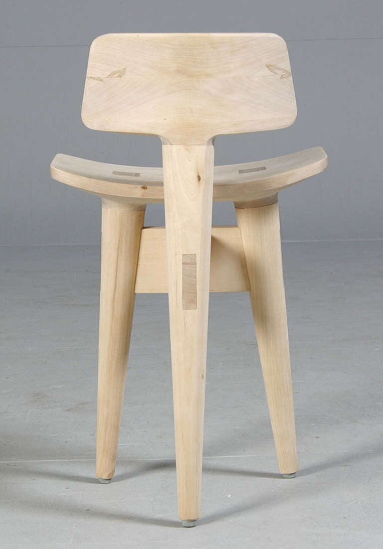 Carved Danish Sculptural Sculptor's Stool by Jens Harald Quistgaard
