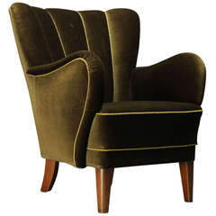 Danish 1940s Upholstered Armchair
