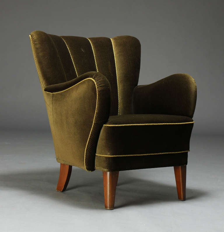 Danish 1940s Upholstered Armchair For Sale At 1stdibs