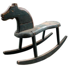 Danish Folk Art Painted Rocking Horse