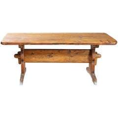 Swedish Mid-Century Pine Farm Table