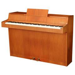 Danish Modernist Piano of Figured Teak, circa Early 1960s