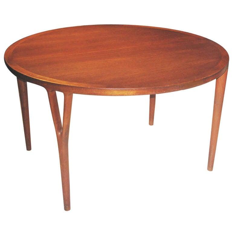 Danish Teak Extending Dining Table by Helge Vestergaard-Jensen 1 - Danish Teak Extending Dining Table By Helge Vestergaard-Jensen At