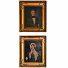 Pair of Small European Portraits