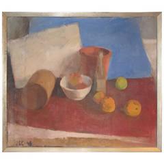 Danish 1940s Modernist Still-Life Painting