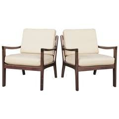 Pair of Mahogany Armchairs by Ole Wanscher