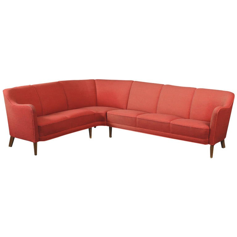 Danish 1940s Corner Or Sectional Sofa At 1stdibs