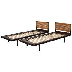 Pair of Danish Modern Single Beds by Hans J. Wegner