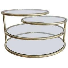 Four-Tier Swivel Coffee Table