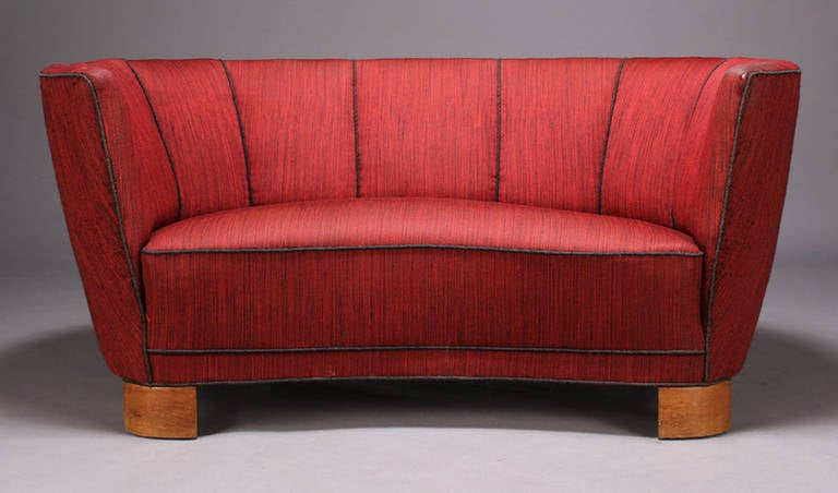 1930s 1940s Danish Small Scale Banana Form Sofa At 1stdibs