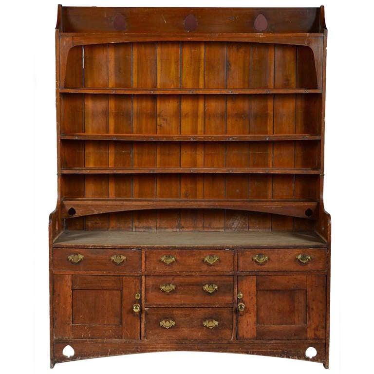 Arts And Crafts Pine Welsh Dresser 1