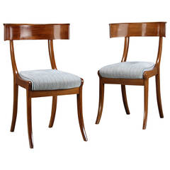 Pair of 19th Century Danish Klismos Side Chairs