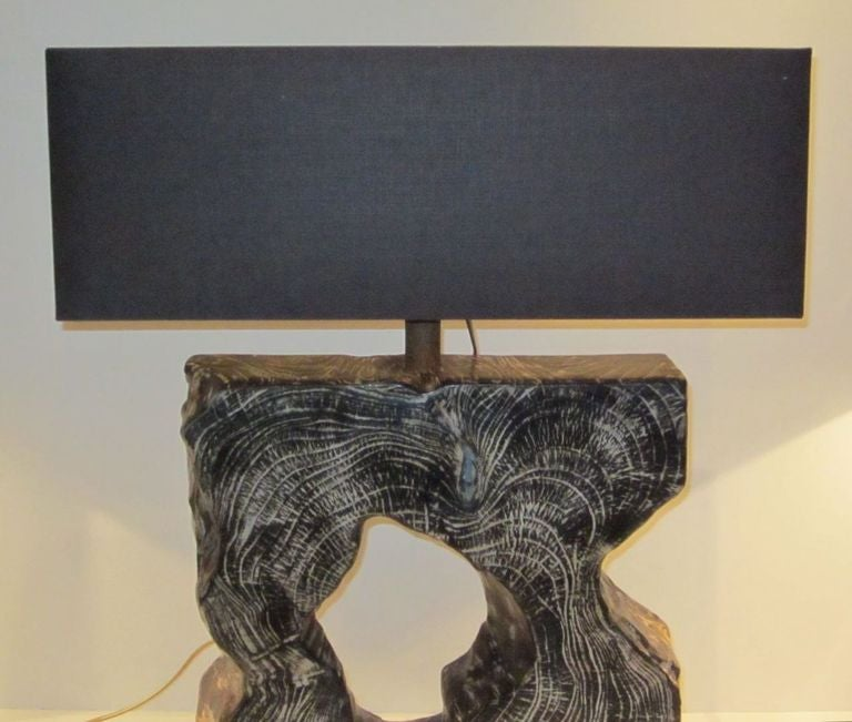 pair mango wood lamps at 1stdibs. Black Bedroom Furniture Sets. Home Design Ideas