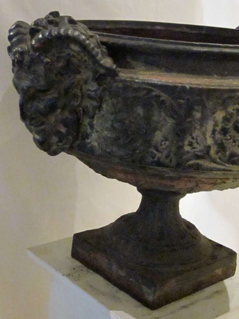19th Century Weathered Bronze Urn, France For Sale 2